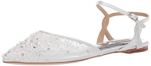 Badgley Mischka Women's Carissa Ballet Flat, Soft White, 7 M US