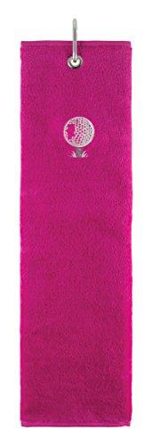 Surprizeshop Damen Hot Tri Fold Golf Handtuch, Rose, Nicht zutreffend