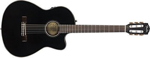 Fender CN-140SCE Nylon - Walnut Fingerboard - Black - with Case