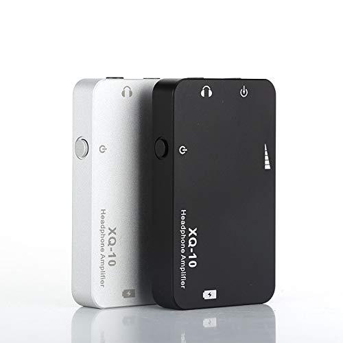 Kopfhörer-Verstärker XQ-10 XQ 10 tragbaren Mini-Kopfhörer-Verstärker Kopfhörer-AMP Wiedergabezeit 20 Stunden (Color : Silver)