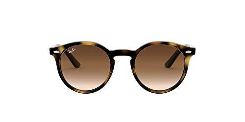Ray-Ban Unisex-Kinder 9064s Sonnenbrille, Braun (Shiny Havana/Brown Gradient), 44