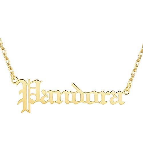 LisaKette Altenglisch/Arabisch/Hindi/Hebräisch/Japanisch Namenskette, Gold/Silber/Rose Personalisierte Halskette, Geschenk zur Freude, Herren, Freundin, Mutter, Schwester