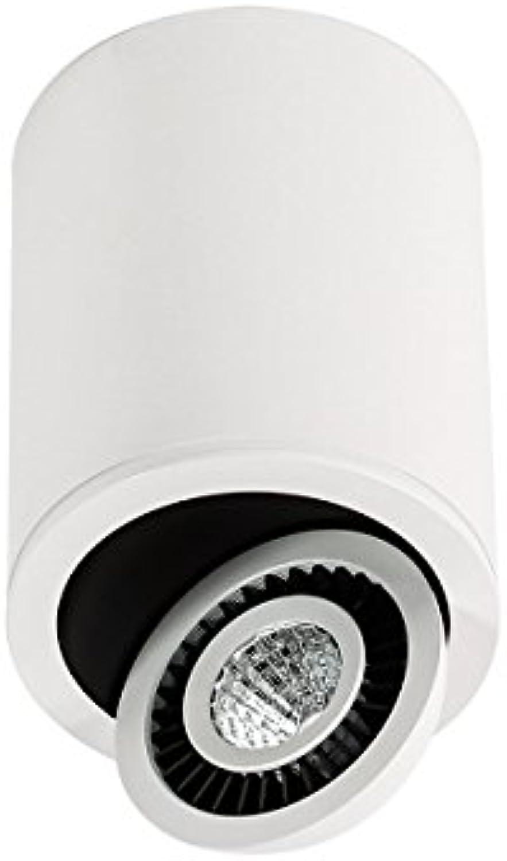 Anbauleuchten Downlight LED 1x7W LED Italux SLC7390 7W 4000K WH+BL SUBBA