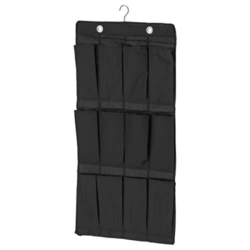 IKEA SKUBB - Colgante organizador de zapatos w 16 bolsillos, negro - 21x29x15 cm