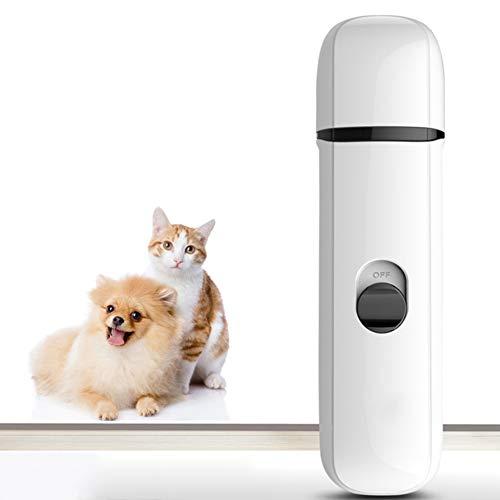 Catkoo Dog Nail Grinder, Elektrische Pet Nail Grinder Trimmer Sanfte Pfoten Premium Clipper Nagelpflege-Tools Ideal Für Katzen, Hunde Und Andere Mittelgroße Haustiere Rosa