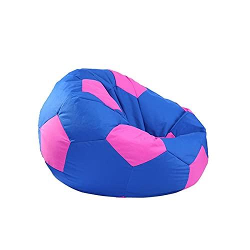 Apricot blossom Extra große gefüllte Tierspeicher-Bagsack-Stuhlabdeckung - für Spielzeuglagerung für Kinder -Football gedruckt (Color : Blue)