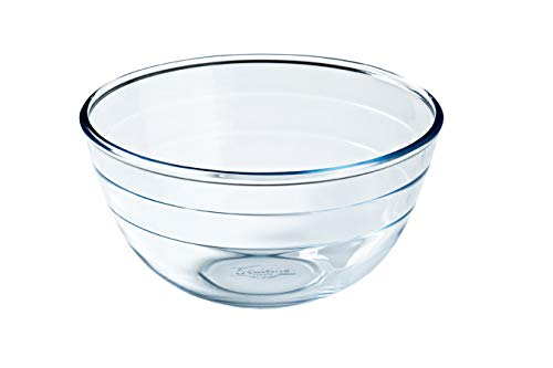 Arcuisine Borosilicate Glass Mixing bowl (9.5-Inch 101 oz.) by International Cookware