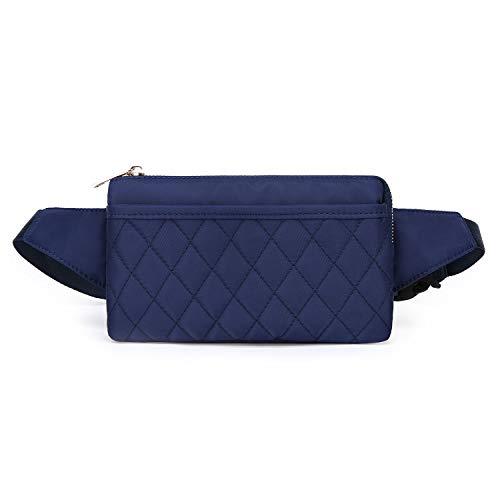 Wind Took Damen Brusttasche Bauchtasche Hüfttasche Handytasche für Party Reise Wanderung Outdoor Alltag Anti-Diebstahl, Blau, 21 x 8 x 12 cm, Klein