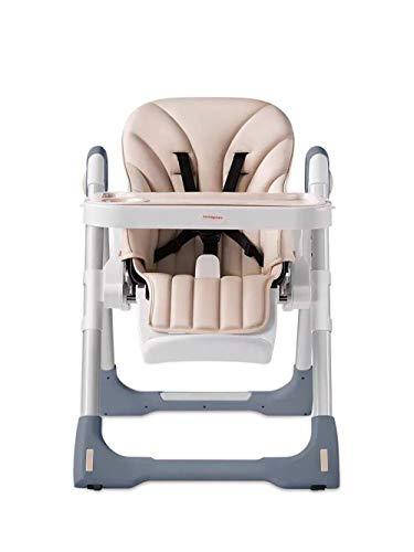 LMJ Outsider Children's eten stoel, high-end kinderen multifunctionele draagbare opvouwen BB eettafel stoel grijs