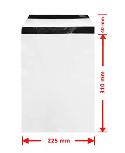 WeltiesSmartTools COEX Folien-Versandtaschen 60my 225x310 + 40 mm DIN C4 100 Stück Sicherheits-Permanentverschluß zum Aufbewahren und Verschicken von Textilien Dokumenten oder Wertsachen