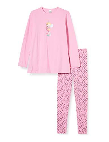 Schiesser Mädchen Prinzessin Lillifee Md lang Zweiteiliger Schlafanzug, Rot (Rosa 503), (Herstellergröße: 104)