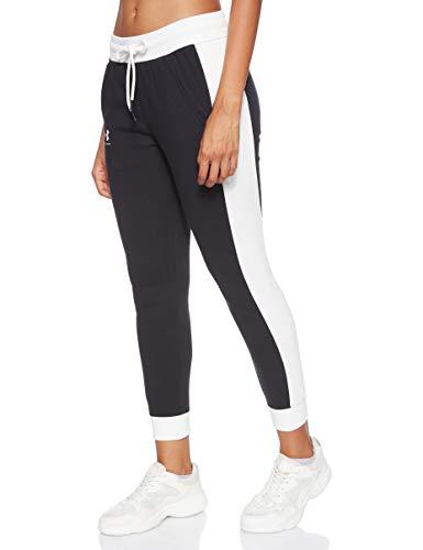 Under Armour Rival Fleece Graphic Novelty Pantalon Femme Noir FR : L (Taille Fabricant : LG)