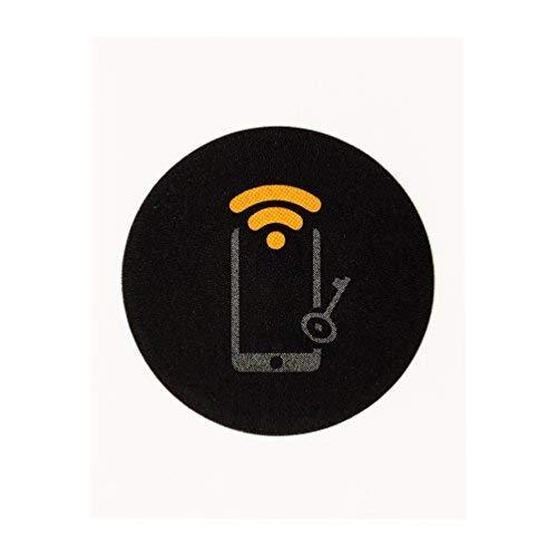 11 x Black NTAG215 NFC Stickers Tags 25MM ( 1 Inch Round 504 Bytes...