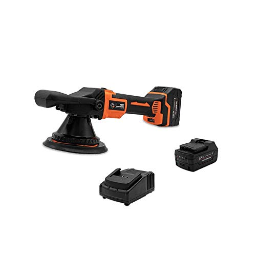 Liquid Elements A4000 V2 Cordless Eccentric Polisher 15mm HUB (Lithium Ion, 1400-2100 U./min, Includes 2 4Ah Batteries and Charger