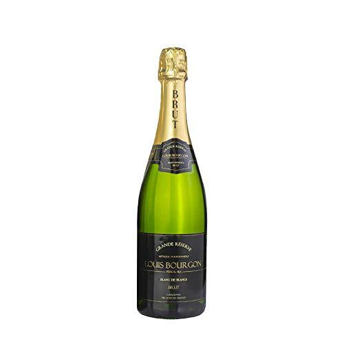 Louis Bourgon Grande Réserve Blanc de Blancs Brut - Vino Espumoso Francés, Borgoña- 11, 5%, 750 ML. Burbuja perfecta y equilibrada. Aromas cítricos y algunas notas florales.