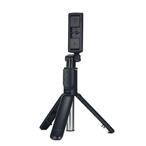Eastdall Mini Tripé Universal Extensível,Monopé dobrável sem fio BT Selfie Stick Mini tripé universal extensível com controle remoto compatível com smartphones IOS Android