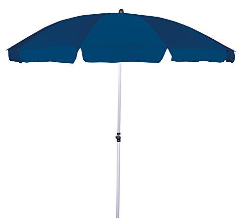 GoodSun 421555906AM Gartenschirm BE, Durchmesser 240 cm, 10-teilig, dunkelblau