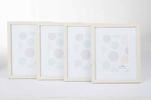 Goldbuch, Merano, 920643, set portretlijsten, 4 lijsten voor 1 foto in het formaat 13 x 18 cm, MDF, wit