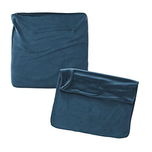 Cojines Sofa 45x45 Color Marino Pack de 2 Fundas de cojin Decorativos para Sofa , Cama , Salon / Funda de Terciopelo Elegantes y Modernas para la decoración del hogar sin Relleno