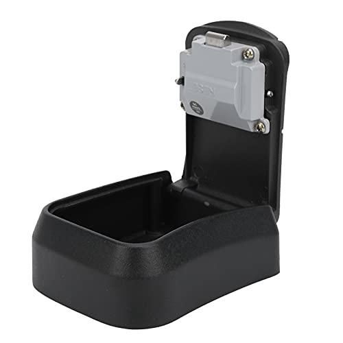 Caja de seguridad, resistente a la intemperie Caja de seguridad con llave Combinación de 4 dígitos Gran capacidad con código reiniciable para seguridad del hogar para llaves de repuesto(black)