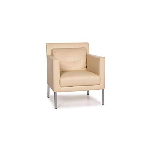 Walter Knoll Jason leather armchair cream