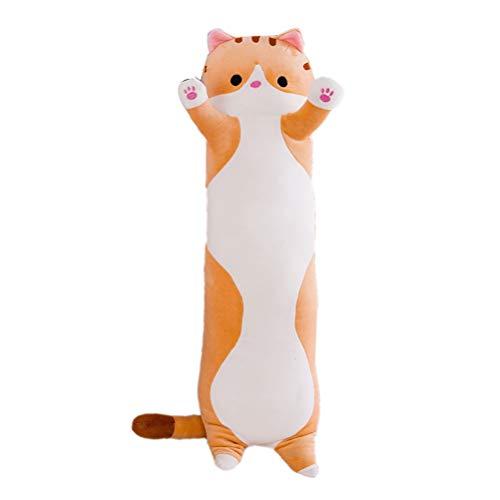 Amiispe Seitenschläferkissen Langes Kissen Nackenkissen Stofftiere Plüsch Katze Puppe weiche Puppe Spielzeug Geschenk für Kinder Freundin