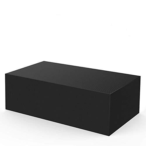 YFFS Cubierta para Muebles De Jardín, Cubierta De Patio Rectangular Negra, para Mesa De Muebles, Revestimiento Plateado con 2 Hebillas Cortavientos (45 * 40 * 25CM)