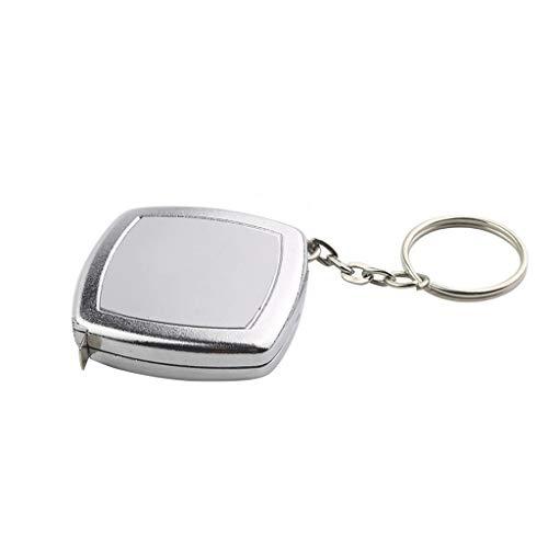 Maßbänder Schlüsselbund Mini Kleine Maßband 2 Meter Tragbare Tragbare Geschenk Maßband Handwerkzeuge Mess-&Planwerkzeuge (Color : Silver)
