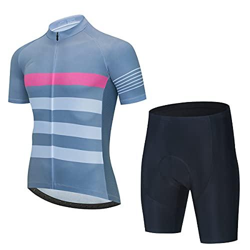YLJXXY Maillots de Ciclismo Hombres Verano Bicicleta MTB Ropa Camiseta y Cortos Conjunto de Ropa para Ciclismo al Aire Libre