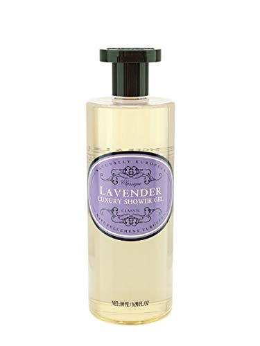 Naturally European Luxury Lavender Organic Body Wash - 500ml | No SLS and Parabens | Cleansing and Moisturising Lotion Shower & Bath Gel | For Men and Women