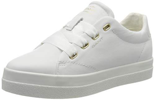 GANT FOOTWEAR Damen AVONA Sneaker, Weiß (Bright White G290), 39 EU