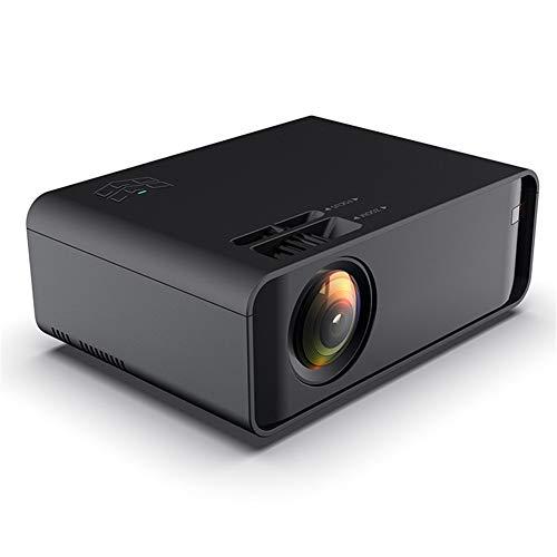 QinLL Projector, Mini Draagbare Video Projector LED met bekabelde/draadloze Mirror screen,5W Speaker Ondersteuning HD 1080P HDMI/VGA/AV/USB, voor Home Theater Entertainment,aa