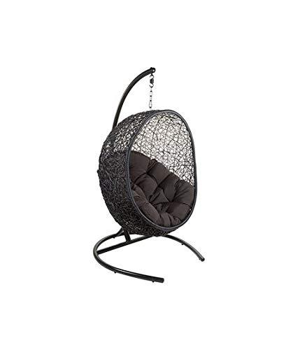 Dabudae Chaise de Panier Suspendu Noir