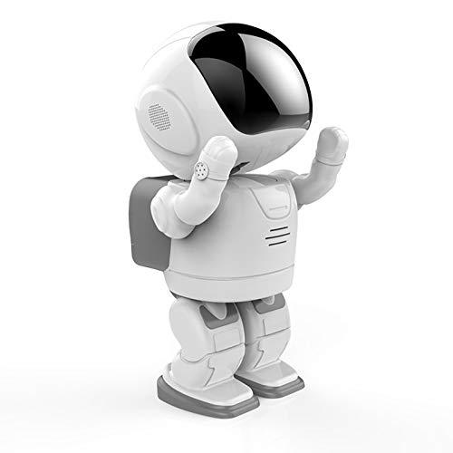 Cámara IP WiFi, Cámara De Seguridad para El Hogar 1080P HD Smart Robot Cámara Inalámbrica 360 ° Panorámica con Visión Nocturna, Detección De Movimiento, Audio De 2 Vías