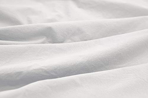 L1NK STUDIO Funda nordica Cama 135 cm Lisa (220x220cm) 100% algodón (Percal 200 Hilos) Blanco