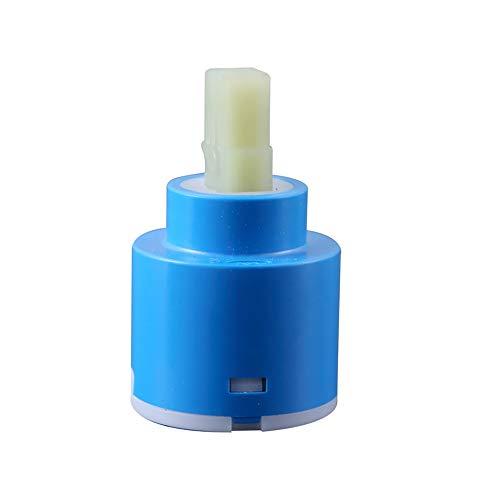 BASDW Mezclador de Cartucho de cerámica de 35 mm / 40 mm Grifo de Accesorios de Grifo de par bajo Caliente y frío Base Plana de rotación (Size : Size 40mm)