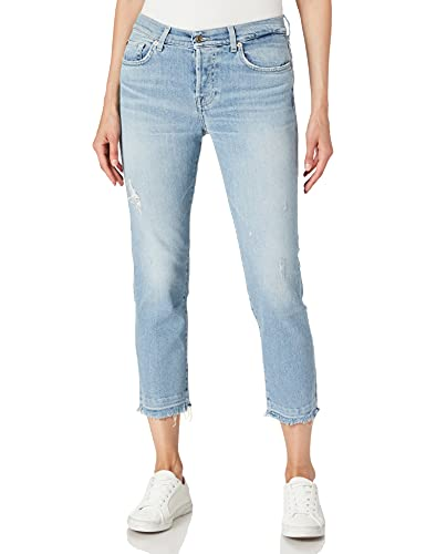 7 For All Mankind Women's Asher Jeans, Light Blue,...