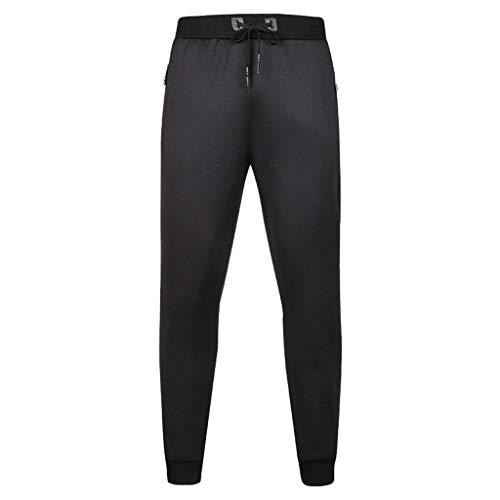Panty's, joggingbroek, brede broeken, broeken mannen broeken joggingbroek vrije tijd losse brief pure trekkoord elastische taille lange broek Europa en de Verenigde Staten X-Large zwart