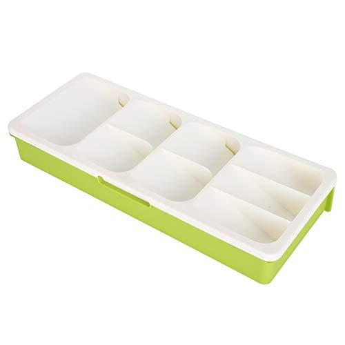 Uxsiya Organizador de Tenedores Soporte de Cuchara de Capa Inferior extraíble Múltiple para Cocina para Cuchara(Off-White)