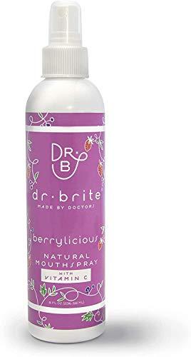 Dr. Brite Berrylicious Mundwasser Spray | Kinder & Erwachsene | Sicher zu schlucken | Fluoridfrei | Alkoholfrei | Steigert die Zahnfleischgesundheit | Hergestellt aus natürlichen