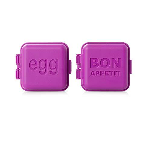 monbento - MB Kawaii Fushia - 2 moules à Oeuf carrés pour bento - sans BPA