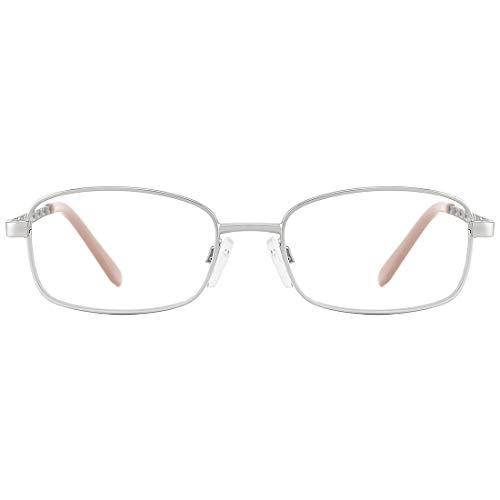 Mimoeye Blue Light Blocking Reading Glasses Retro Metal Frame Prescription Eyeglasses for Men and Women