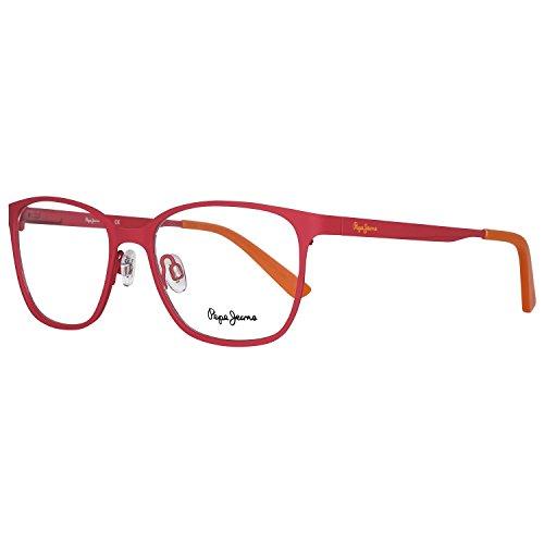 Pepe Jeans P1200C6Justis Brillengestelle P1200 C6 Justis Rechteckig Brillengestelle 52, Rot