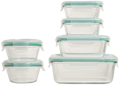 OXO Good Grips Smart Seal Container 12 Piece Glass Container Set,Clear
