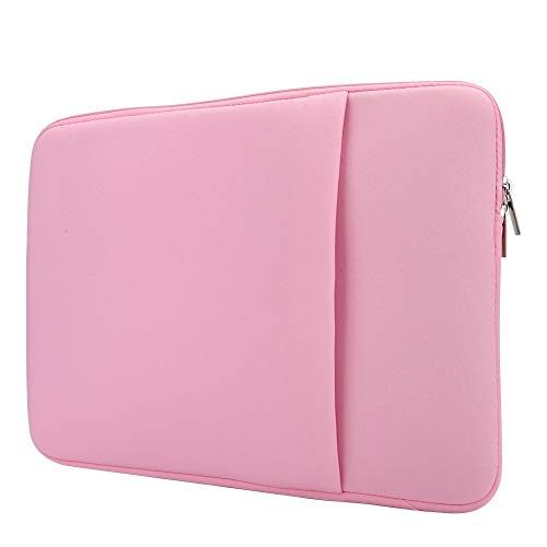 Liyeehao Laptop Bag, Slim Ultra Black/Grey/Light Pink Laptop Sleeve Case, 15 Inch Business Portable PC Tablet Magazine Pen File for Phone Book for Laptop Notebook(light pink)
