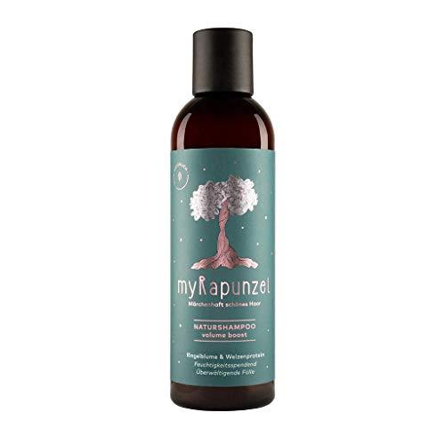 myRapunzel 200ml Volumen-Naturshampoo - 100% natürlich und vegan - ohne Silikone, Parabene, Sulfate & Tierversuche - ohne Chemie - Verleiht mehr Volumen - Made in Austria