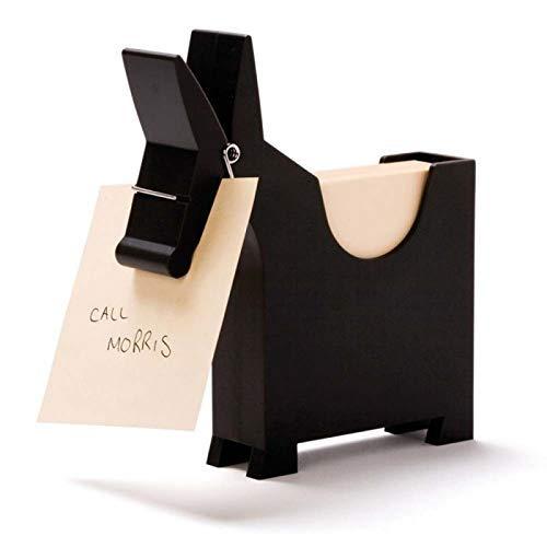 Luckies Notizzettel-Box Morris the Memo, mit Halter, schwarz
