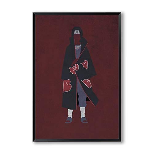 zhuziji DIY Malen nach Zahlen Estee Japan Anime Naruto Moderne einfache Retro Charakter Ölgemälde Bild Kinderzimmer Dekoration40x60cm(Kein Rahmen)