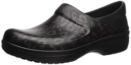 Crocs Women's Felicity Clog, Leopard/Black, 11 M US