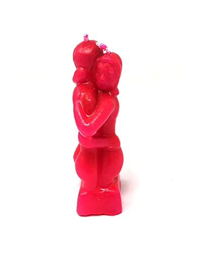 Lovers Embrace Image Candle Loving Couple in red Wax for Spell Magic to Strengthen Love - Love Spell kit